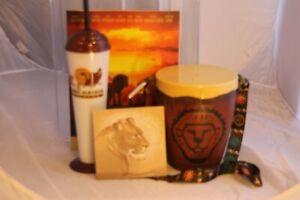 Animal Kingdom Drum Popcorn Bucket Sipper Activity Book Art Lion King Disney Lot
