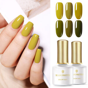 BORN-PRETTY-6ml-Gel-Nail-Polish-Olive-Green-Color-Soak-Off-Nail-Gel-Varnish