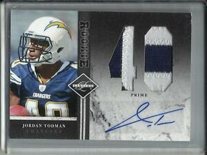 Jordan Todman 2011 Panini Limited Autograph Game Used Jersey Patch Rookie #1/5