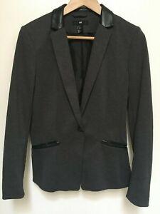 H\u0026M Womens 10 Dark Grey Faux Leather