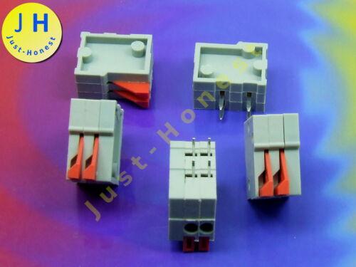 TERMINAL BLOCK 2 polig//way 2A Platine PCB #A904 Stk.5x KLEMMLEISTE mit Hebel