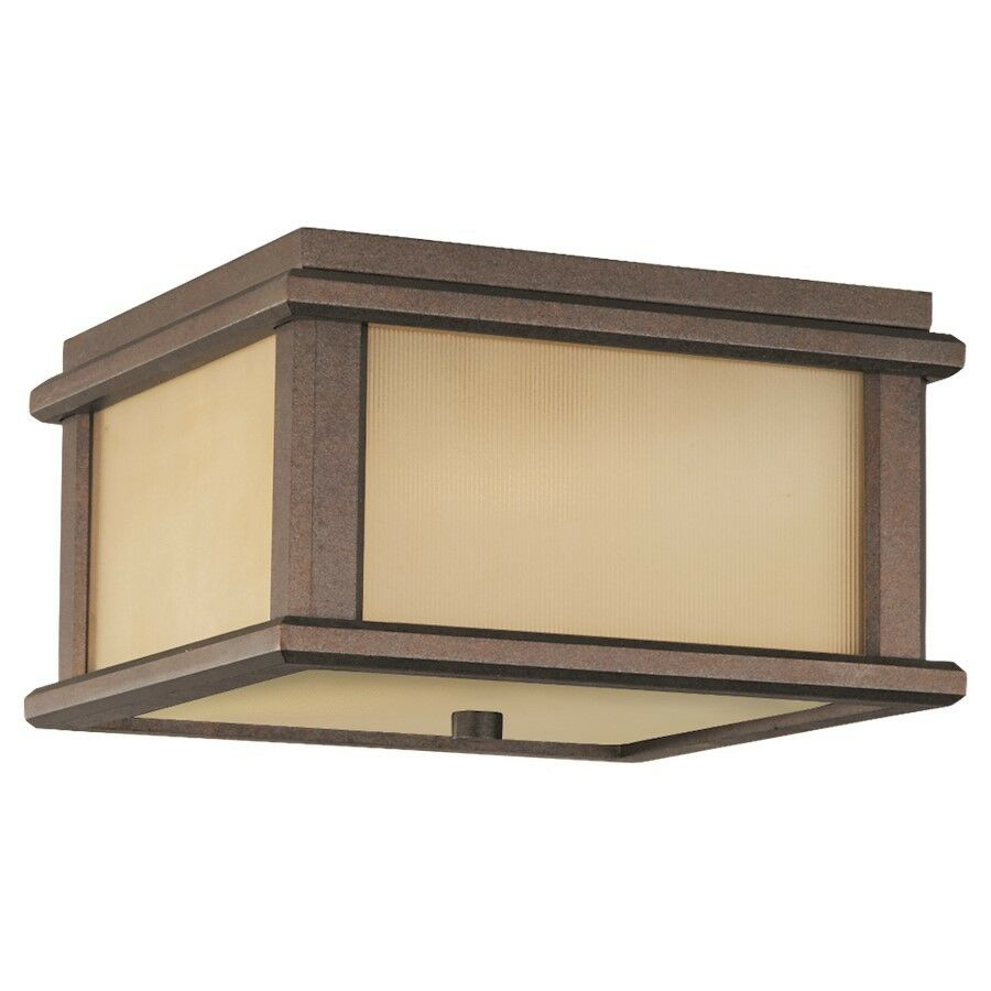 Feiss Mission Lodge 2-Light Ceiling Ceiling Ceiling Fixture Corinthian Bronze - OL3413CB df9698