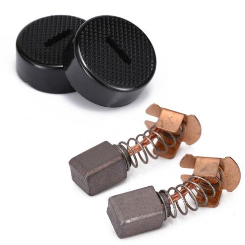 1 Pairs Carbon Brushes For Makita BGA450 BGA452 DGA452 GA400 BGA402 With Cap