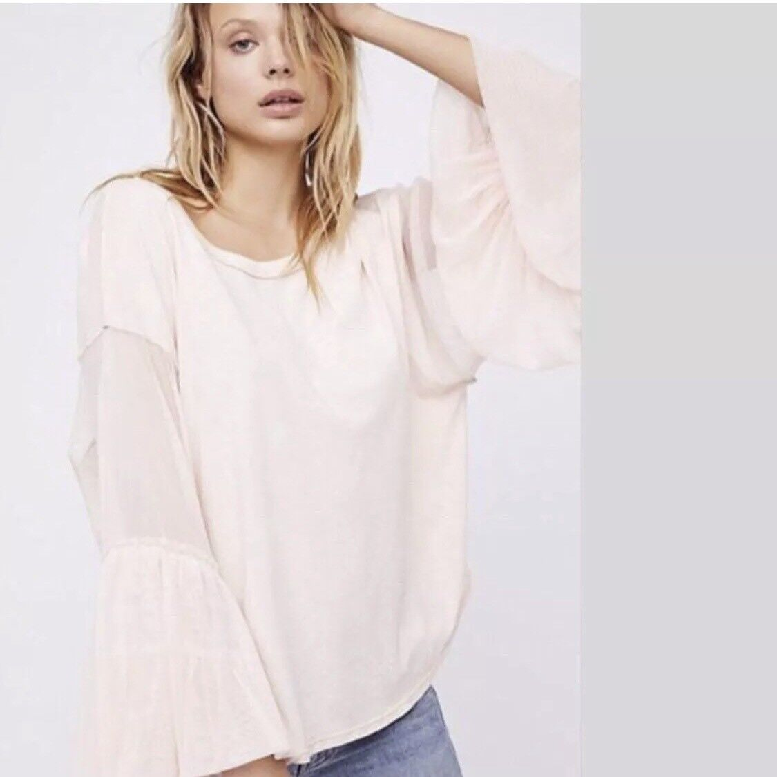 FREE PEOPLE We The Free Rosa Still Got It Tee Top Medium M  OB675818 NWT NEW