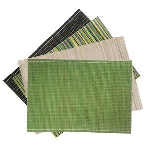 1-4pcs-Bamboo-Placemats-Rectangle-Dining-Table-Oriental-Mat-Coaster-Sushi-Place