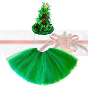 Fun Christmas Mini Tinsel Tree Hat On Headband Womens Fancy Dress Accessory