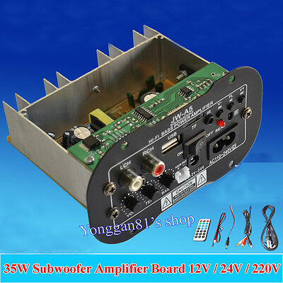 "12V 24V 110-220V 6"" Subwoofer MP3 Decoder 35W Amplifier Board for Car Motorcycle"