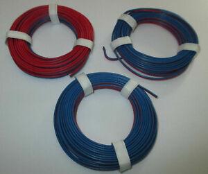 0-397-M-Conducteur-Jumele-Rouge-Bleu-3-X-5m-Neuf