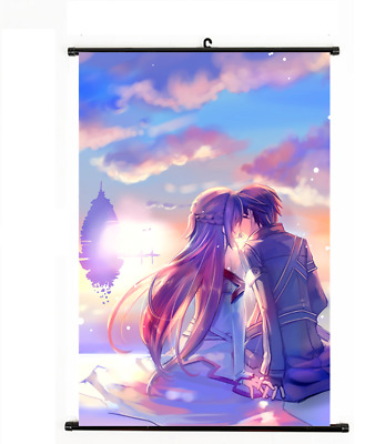Anime Sword Art Online Yuuki Asuna Fabric Wall Scroll Poster Home Decor 40*60CM