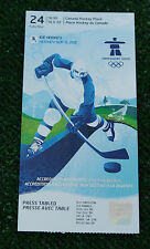 Ticket collectors Olympic Vancouver 2010 Ice hockey mens 1/4final Russia Canada