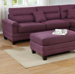 Miraculous Details About Classic Sectional Sofa Tufted Cushion Pillows Ottoman Warm Purple Sofa Chaise Ibusinesslaw Wood Chair Design Ideas Ibusinesslaworg