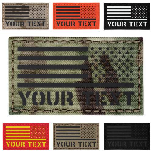 Custom Inversé Usa droite américaine Drapeau US ARMY moral Tactique 2x3.5 patch #CST