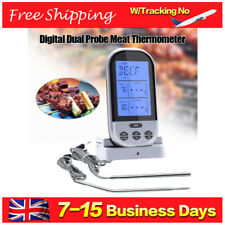 Digital Wireless Barbecue BBQ Meat 2 Probe LCD Thermometer Remote Grill Cooking