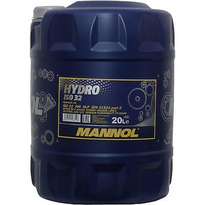 20 Litri Originale Mannol Olio Idraulico Hydro Iso 32 Hydraulic Fluid- Smoothing Circulation And Stopping Pains