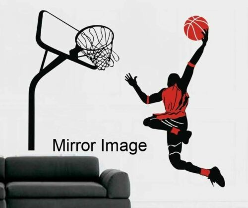 Personalized Name Basketball Dunk Wall Art Stickers Kids Vinyl Decals Decor DIY