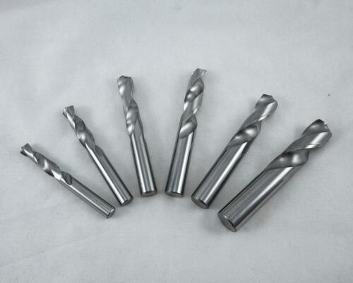 "KLOT 5pcs Solid Carbide Drill Bit 7.0mm 0.2756/"" 2-Flute Straight Shank K10"