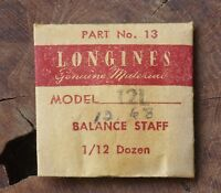 Vintage Longines 12l Watch Balance Staff Swiss Part Longines 12.68n Movement