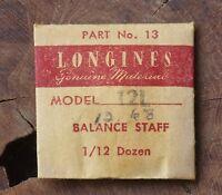 Vintage Longines 12l Watch Balance Staff Swiss Part Longines 12.68n Movement