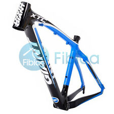 "New GIANT XTC C Carbon MTB Mountain Bike Frame 26er 16"" Blue Press-fit BB92 BB90"
