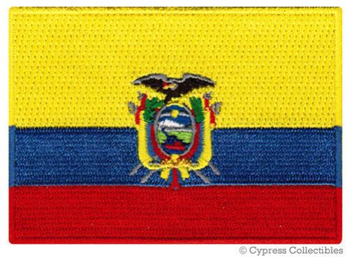ECUADOR FLAG embroidered iron-on PATCH SOUTH AMERICAN EMBLEM applique SOUVENIR
