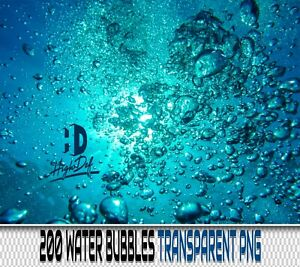 200 Water Air Bubbles Transparent Png Photoshop Overlays Backdrops Backgrounds Ebay