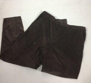 town-craft-men-s-pants-corduroy-Size-48w-Brown-Back-Elastc-Waist-Long-Wearing