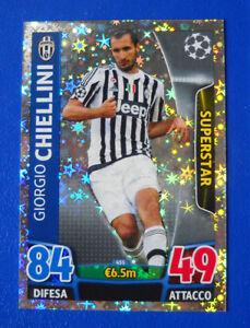 CARD MATCH ATTAX CHAMPIONS LEAGUE 2015//16 ITA JUVENTUS N.455 CHIELLINI