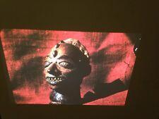 Ekoi Nigeria Human Skin Mask: African Tribal Art Vintage 35mm Slide