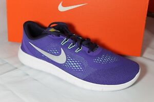 NIKE-FREE-RN-GS-GIRLS-SHOES-PURPLE-Reflect-Silver-SIZE-7-833993-501