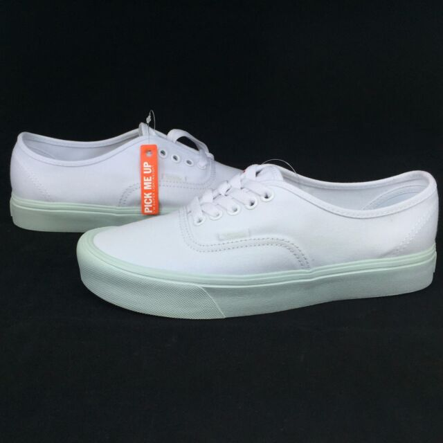 23fbda35e8 New Vans Authentic Lite ALL SIZES Pop Pastel True White Zypher Mint Sole  Low Top