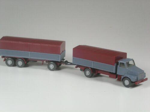 Wiking Volvo N 10 Lastzug mit Stahlpritschen graublau in OVP TOP