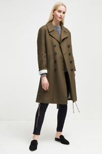 French Melton Khaki 10 Size Shape Connection Peacoat Wool qPacqzrH