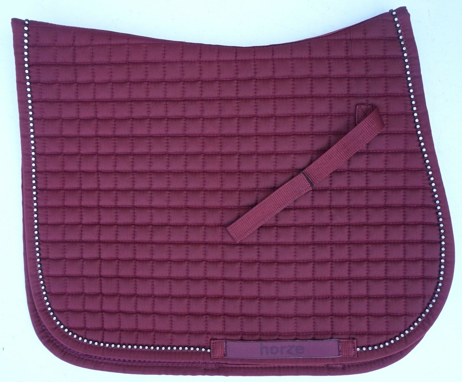 Horze Duchess All Purpose Crystal  Lined English Saddle Pad Pony or Horse Size  new exclusive high-end