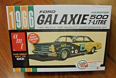 AMT 904  1966 Ford Galaxie 500 7 litre Hardtop NASCAR plastic model kit 1//25