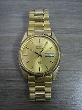 Vintage 1983 Seiko 5H23-8020 Quartz 3-Jewels Dress Gold-T DayDate Men's Watch