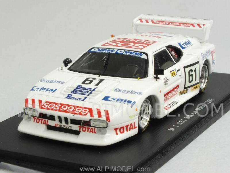 BMW M1 Le Mans 1982 Ennequin - Gabriel - Gasparetti 1 43 SPARK S1585