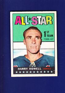 Harry-Howell-AS-HOF-1967-68-TOPPS-Hockey-121-VGEX-New-York-Rangers