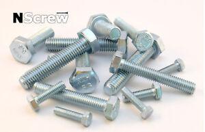 SET SCREWS FULLY THREADED BOLTS GRADE 8.8 HIGH TENSILE ZINC PLATED M10 10mm