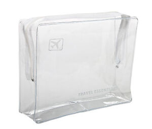 HOLIDAY TRAVEL TOILETRIES BAG - Clear Plastic Airline Airport Bag 17 x ...