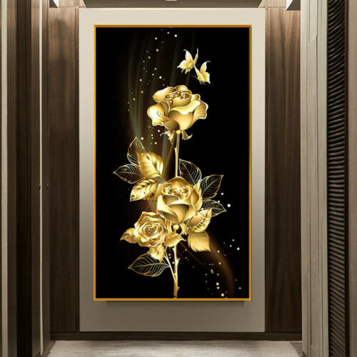 Gold Flower Full Drill 5D Diamond Painting Embroidery Cross Stitch Kits Decors