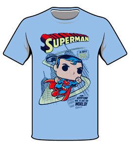 c9789a32 Funko Pop! DC Superman, Man Of Steel T-Shirt, Sizes S-L (Brand New ...
