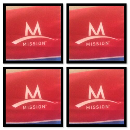4 Mission ENDURACOOL Instant Cooling Fabric TOWEL RED 42 X 6 S