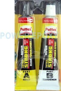 Pattex-Power-Epoxy-Repair-A-B-Quick-Set-Transparent-metal-plastics-glass-wood