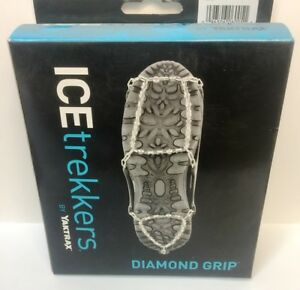 ICETREKKERS, DIAMOND GRIP TRACTION CLEATS, SIZE: SMALL, MENS (5-6), WOMENS (5-7)