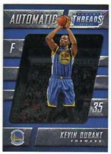 2016-17-Panini-Threads-Automatic-SP-Insert-16-Kevin-Durant-Warriors