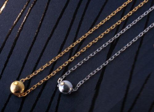 Silberkette Ankerkette Choker mit Anhänger 925 Silber Kette vergoldet