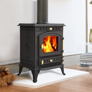 multifuel wood burning log cast iron woodburner stove fireplace new
