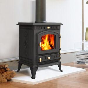 multifuel wood burning log cast iron woodburner stove fireplace new