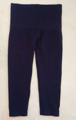 Soma Slimming Crop Leggings Cropped NAVY BLUE Womens SMALL S NEW
