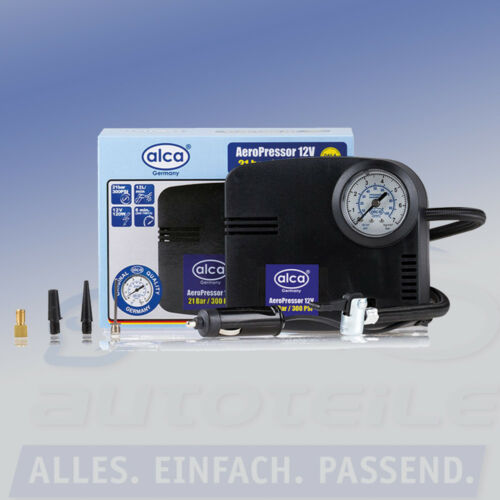 """alca Kompressor /""""Turbo/"""" 12V für Auto Bälle Pannenhilfe 21 b PKW Fahrrad Ball"""